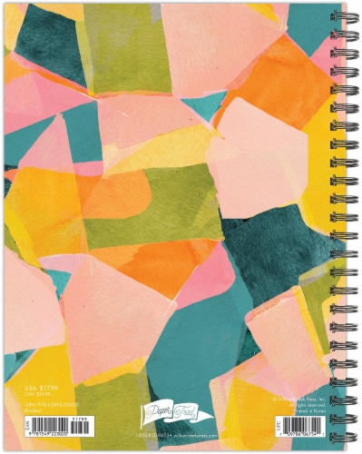 Blocked Colors 2022 6.5  x 8.5  Softcover Weekly Planner Perspective: top