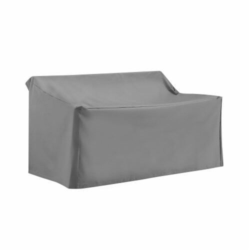 Crosley Patio Loveseat Cover in Gray Perspective: top