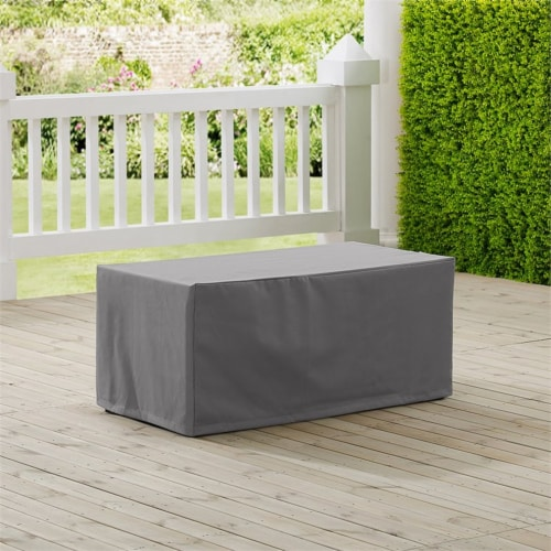 Crosley Patio Coffee Table Cover in Gray Perspective: top