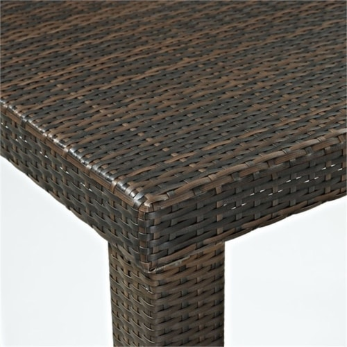 """Palm Harbor Patio Wicker 24"""""""" Counter Height Stool (Set of 2) - Crosley Perspective: top"""