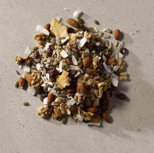 Grizzlies Brand Organic Raw Fruit & Nut Mix Perspective: top