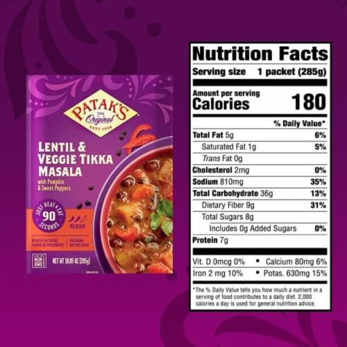 Patak's® Lentil & Veggie Tikka Masala Perspective: top