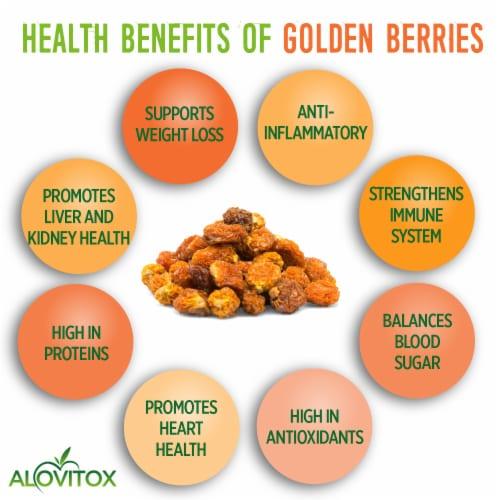 Certified Organic Sun Dried Golden Berries 8 oz | Raw, Vegan, Gluten Free Super Snack Perspective: top