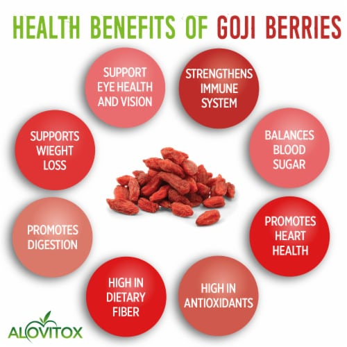 Certified Organic Goji Berries 16 oz | Raw, Vegan, Gluten Free Super Snack Perspective: top
