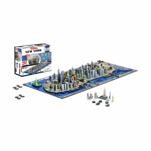 4D Cityscape New York USA Time Puzzle Perspective: top