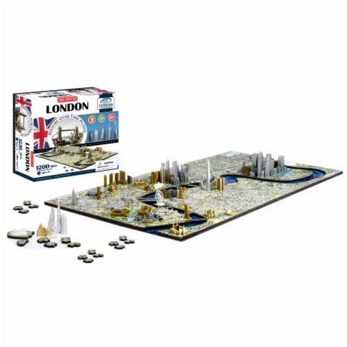 4D Cityscape London England History Over Time Puzzle Perspective: top