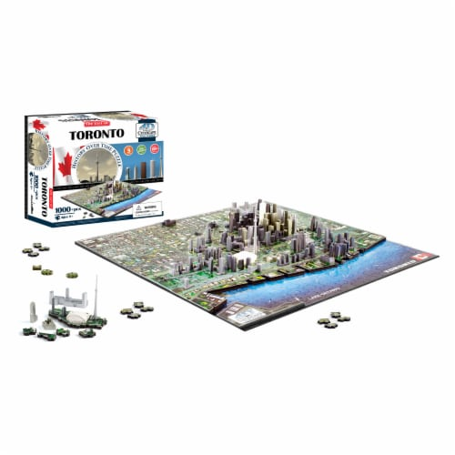 4D Cityscape Toronto Canada Time Puzzle Perspective: top