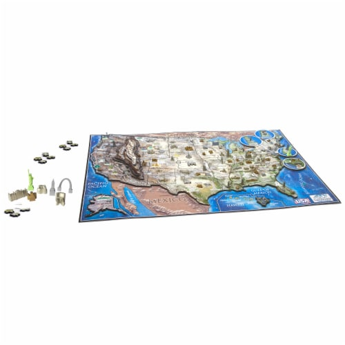4D Cityscape USA History Over Time Puzzle Perspective: top