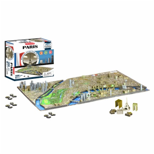 4D Cityscape Paris France Time Puzzle Perspective: top