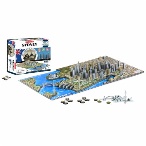 4D Cityscape Sydney History Over Time Puzzle Perspective: top