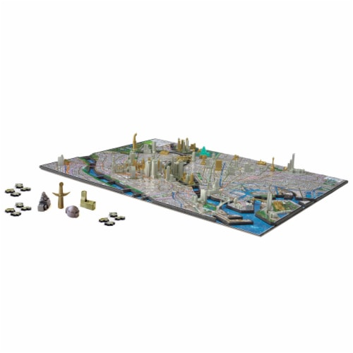 4D Cityscape Osaka Japan Time Puzzle Perspective: top