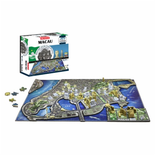 4D Cityscape Macau History Over Time Puzzle Perspective: top