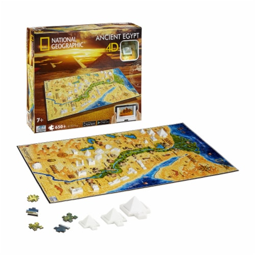 4D Cityscape National Geographic Ancient Egypt Time Puzzle Perspective: top