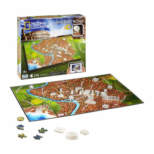 4D Cityscape National Geographic Ancient Rome Time Puzzle Perspective: top