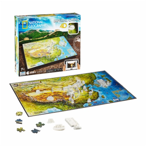 4D Cityscape National Geographic Imperial China Time Puzzle Perspective: top