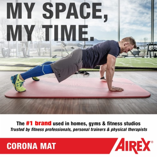 Airex Corona Closed Cell Foam Fitness Mat for Yoga, Pilates, & Gym Use, Green Perspective: top