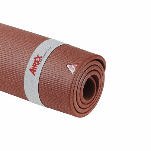 Airex Coronella 200 Closed Cell Foam Fitness Mat for Yoga & Pilates, Terracotta Perspective: top