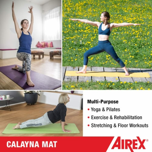Airex Calyana Prime Closed Cell Foam Fitness Mat for Yoga and Pilates, Purple Perspective: top