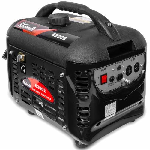 2000W Generator Gas-Portable Quiet RV Camping 4-Stroke, Black Perspective: top