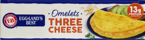 Eggland's Best® Three Cheese Fully Cooked Omelets Perspective: top