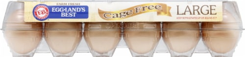 Eggland's Best Cage Free Grade A Large Brown Eggs Perspective: top