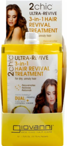 Giovanni 2chic Ultra-Revive Pineapple & Ginger 3-in-1 Hair Revival Treatment Perspective: top