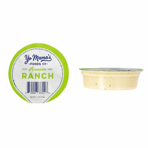 Yo Mama's Foods Keto Ranch Salad Dressing and Dip Cups - (135) 1.5 oz Single Serving Cups Perspective: top