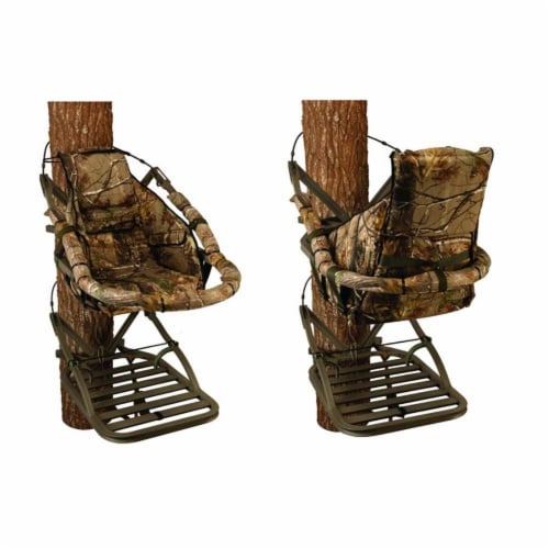 Summit 180° Max SD Self Climbing Treestand for Bow & Rifle Deer Hunting   81116 Perspective: top