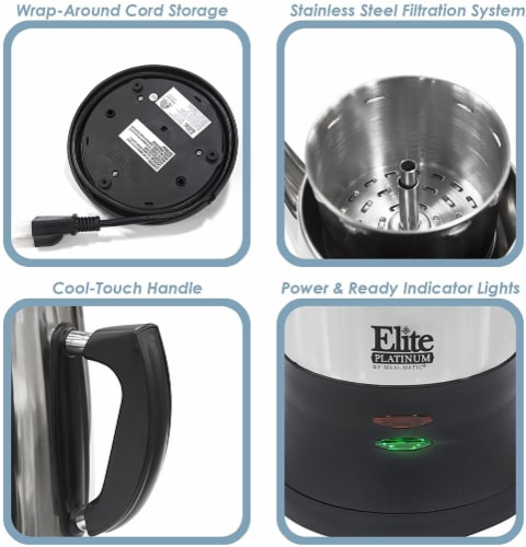 Elite Platinum Stainless Steel 12-Cup Percolator Perspective: top