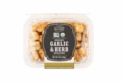 Schwartz Brothers Bakery Garlic & Herb Croutons Perspective: top