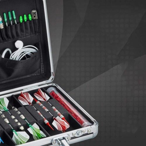 Casemaster Legion Extra Large Aluminum Ultra Premium 9 Dart Storage Case, Black Perspective: top