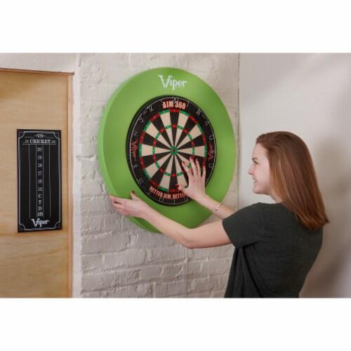 Viper Guardian Dartboard Surround Green Perspective: top