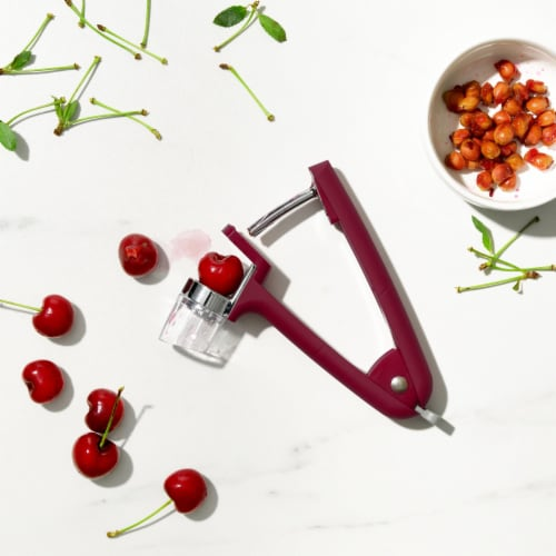 OXO Good Grips Cherry and Olive Pitter - Red Perspective: top