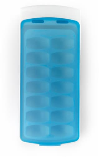 OXO Soft Works Ice Cube Tray - Blue Perspective: top