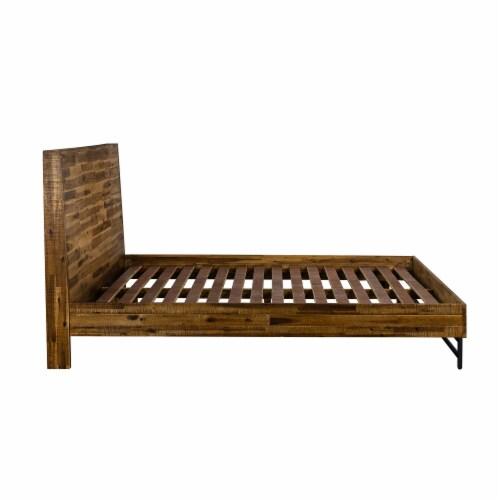 Cusco 3 Piece Acacia Queen Bed and Nightstands Bedroom Set Perspective: top