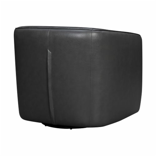 Aries Leather Swivel Barrel Chair Perspective: top