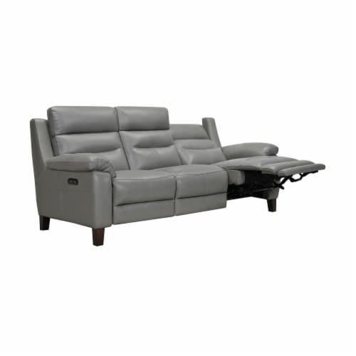 Hayward 82  Dark Gray Leather Power Reclining Sofa Perspective: top
