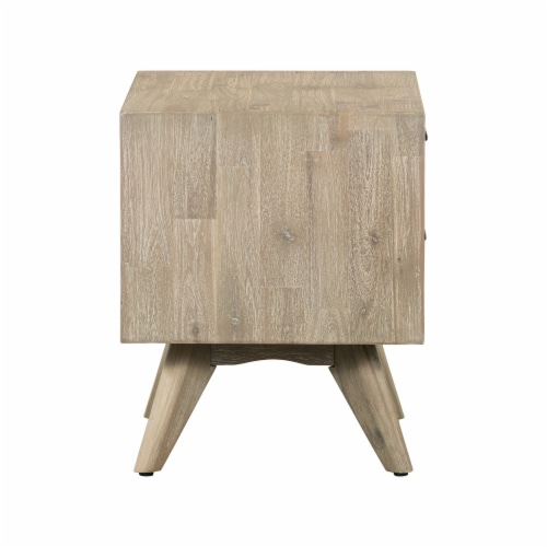 Baly Acacia Mid-Century 2 Drawer Night stand Perspective: top