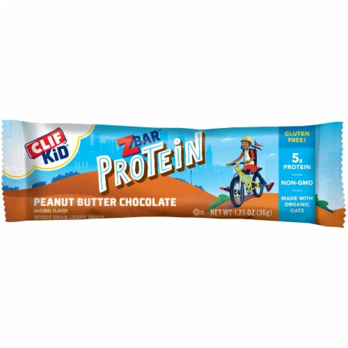Clif Kid Z Bar Peanut Butter Chocolate Protein Bars Perspective: top