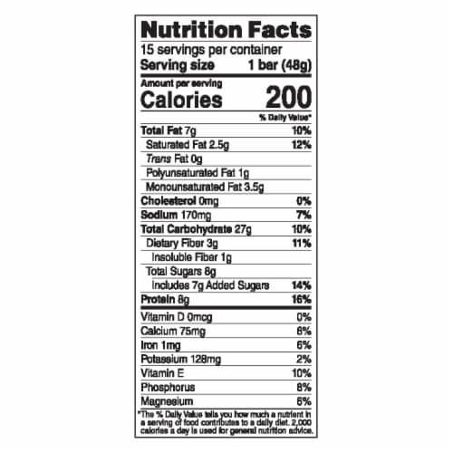 Luna White Chocolate Macadamia Nutrition Bar Perspective: top