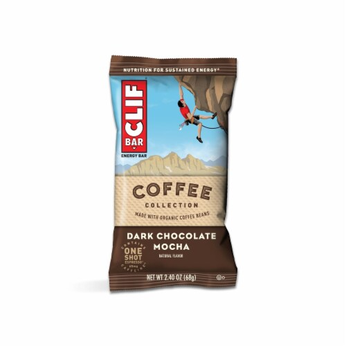 Clif Bar Coffee Collection Dark Chocolate Mocha Energy Bars Perspective: top