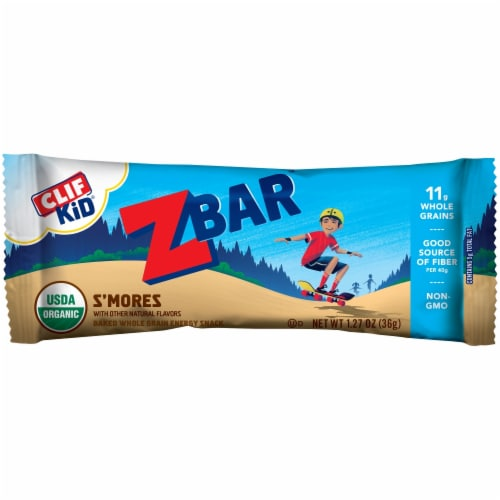 Clif Kid Zbar S'mores Baked Whole Grain Snack Bars Perspective: top