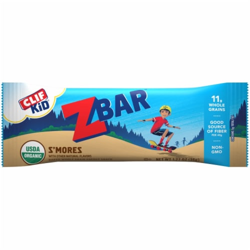 Clif Kid Z Bar S'mores Snack Bars 12 Count Perspective: top