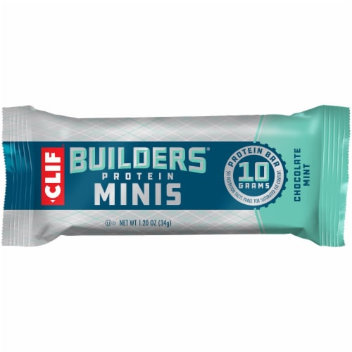 Clif Builder's Minis Chocolate Mint Protein Bars Perspective: top