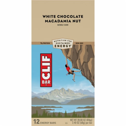 Clif Bar White Chocolate Macadamia Nut Energy Bars Perspective: top