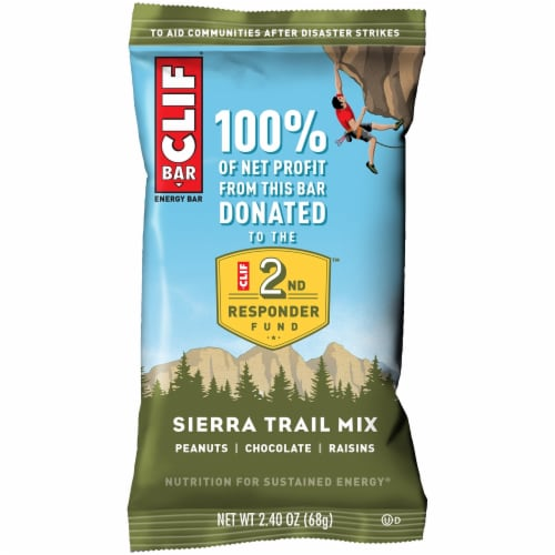 Clif Bar Sierra Trail Mix Energy Bars Perspective: top