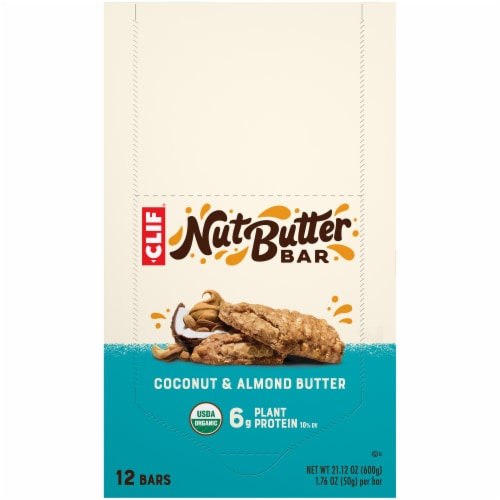Clif Nut Butter Filled Coconut & Almond Butter Bars Perspective: top