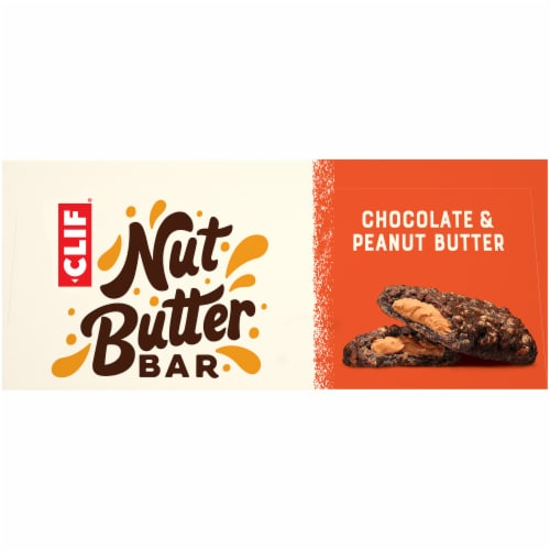Clif Bar Nut Butter Filled Chocolate & Peanut Butter Energy Bars Perspective: top
