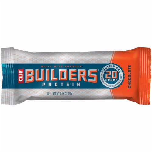 Clif Bar Builders Chocolate Protein Meal Bars Perspective: top