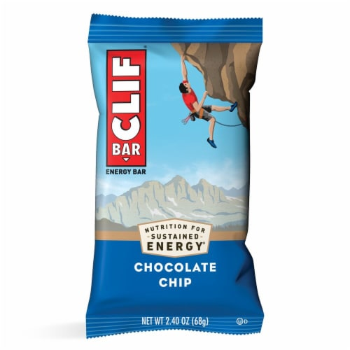 Clif Bar Chocolate Chip Energy Bars Perspective: top
